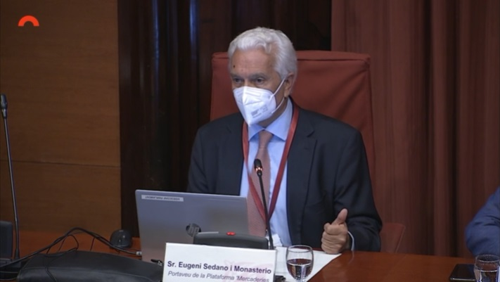 Eugeni Sedano, al Parlament